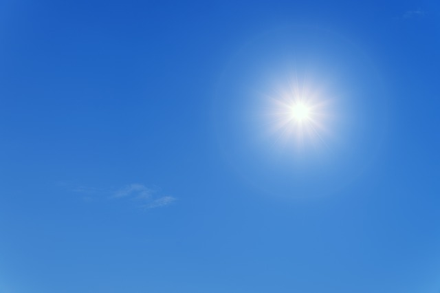 out of the clear blue sky - idioms about the color blue